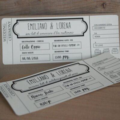 Partecipazione Di Nozze Biglietto Aereo – C
