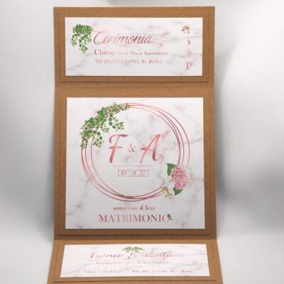Partecipazione Di Matrimonio Quadrata Eleganza